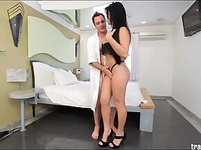Dude Hires Shemale Escort and Sucks her off