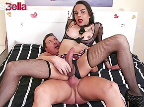 TRANSBELLA - Eager Tranny Melissa Pozzi Can't Wait To Try Professional Sex